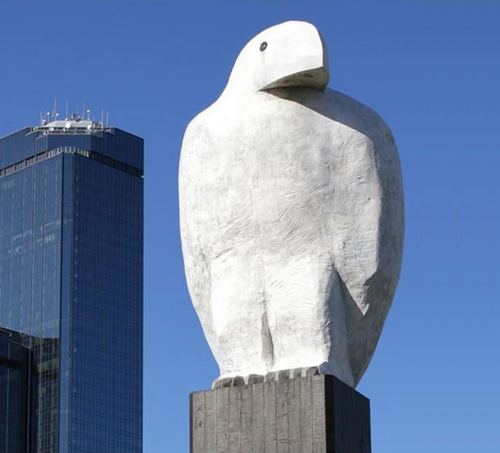 Eagle (2002), sculpture by Melbourne artist Bruce Armstrong